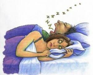 heavy snoring