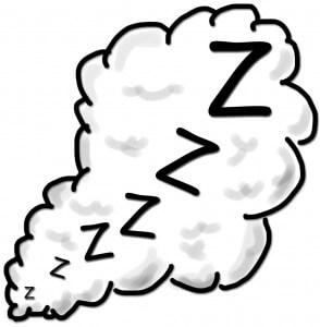 snoring zzz