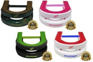 Zyppah in four colors Green & Black, Red, white and blue, pink and white, cammo brown and green