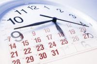 Clock and a calendar