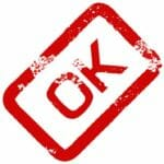 Red OK Stamp
