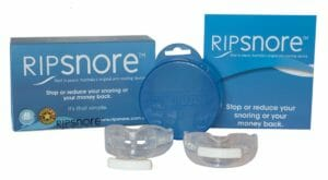 Two Ripsnore Mouthpieces with storage case and packaging