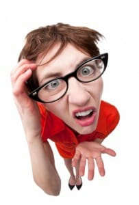 Confused Geeky Woman