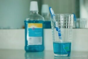 toothbrush mouthwash