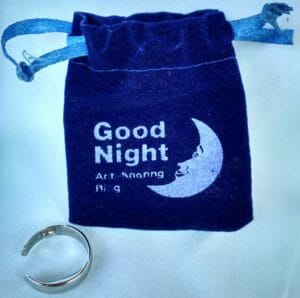 SnoreNoMore AntiSnore Ring with pouch