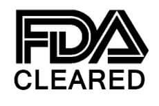FDA cleared logo in black and white