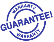 Warranty Guarantee stamp blue