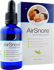 Airsnore drops next to retail packaging