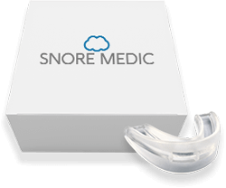 Snore Medic next too retail box