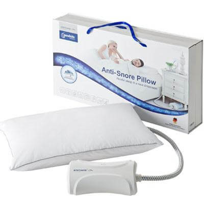 Nitetronic Goodnite Anti-snore pillow with retail packaging