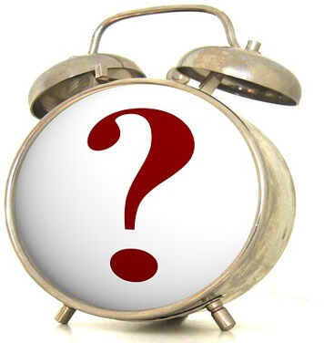 clock with a question mark